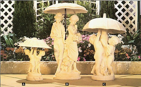 Code Y Umbrella fountain tops
