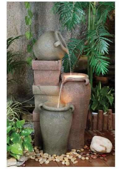 Fibreglass Pottery Urns Fountain   Whitehouse Gardens